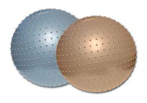piłka złota i srebrna z kolcami do ćwiczeń