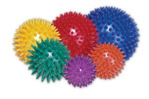 kolorowe piłeczki do rehabilitacji